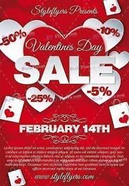 valentines flyer template valentines day sale psd flyer template 16502 styleflyers