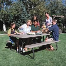 Lifetime Folding Picnic Table Lifetime 22119 Folding Picnic Table 6ft Putty Ebay