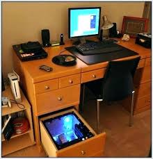Computer Built Into Desk Desk Built In Computer Computer Built Into Desk Drawer Clicktoadd Me