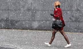 of the uk trains cancelled as snow arrives in uk and temperatures plummet