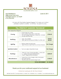tree removal proposal sample 650138 invoices professional work