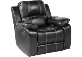 Black Leather Recliner Fenway Heights Black Leather Glider Recliner Recliners Black