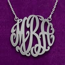 sterling silver personalized jewelry personalized monogram necklace in sterling silver
