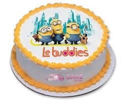 cartoon minions photo cake online cake delivery in noida and