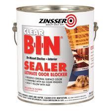 zinsser 1 gal b i n shellac based clear interior primer and