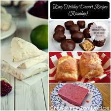4 easy holiday dessert recipes roundup