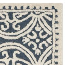 decor cool interiors using navy blue area rug in navy and white