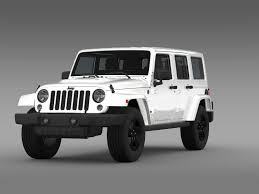 jeep rubicon white 2015 jeep wrangler unlimited x 2015 by creator 3d 3docean