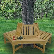wooden garden decorations outdoor bench wooden tree hugger
