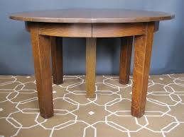 Stickley Dining Room Furniture For Sale by Mission Oak Round Dining Table By Gustav Stickley At 1stdibs