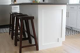 wainscoting kitchen island how to add moulding to a kitchen island withheart