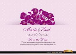 Wedding Invitation Cards Floristic Wedding Invitation Card Vector Free Download