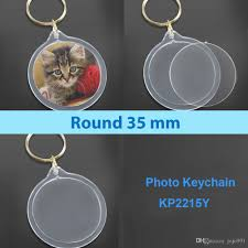 acrylic cat ring holder images Round acrylic keychains blank clear keyrings your own photo jpg
