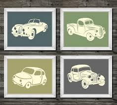 Car Nursery Decor Vintage Car And Truck Decor Vintage Nursery Decor Boys