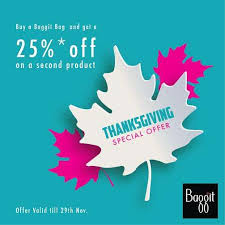 express gratitude with an exciting thanksgiving offer by baggit