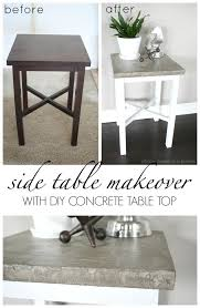 how to clean concrete table top side table makeover with concrete top diy concrete concrete and