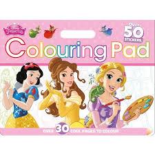 disney princess colouring floor pad colour activity u0026 sticker