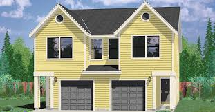 house plans narrow lot narrow lot duplex house plans 16 ft wide row house plans d 430