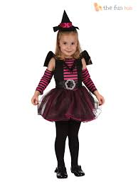 girls toddler pink witch kitty cat fancy dress halloween costume
