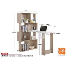 study table l skl6165a l shape study table with bookshelf writing table