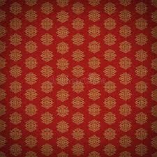 red and gold leaf antique old wallpaper stock illustration