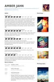 Artist Resume Example by Graphic Artist Cv örneği Visualcv özgeçmiş örnekleri Veritabanı