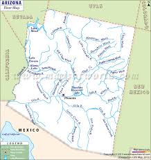 map of az rivers in arizona map arizona rivers map