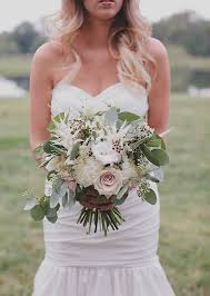wedding flowers eucalyptus astilbe wax flower seeded eucalyptus football