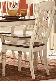 amazon com ohana side chair set of 2 antique white chairs