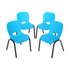 lifetime childrens folding table lifetime childrens stacking chairs 80472 4 pack glacier blue