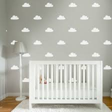 60 baby nursery large white individuals clouds kids bedroom wall