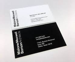 business cards for architects of an architect