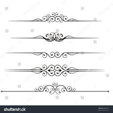 royalty free set of ornamental rule lines 30944911 stock photo