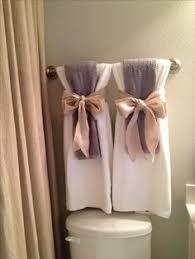 Decorating Bathroom Ideas For Organizing The Bathroom Towels Display And Bath