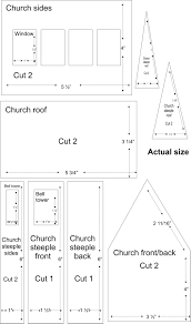 pattern for large gingerbread house church village illustrations these patterns there is a house on