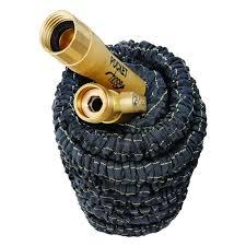 pocket hose top brass 3 4 in x 50 ft expanding garden hose 8703