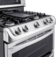 lg 6 9 cu ft gas self cleaning freestanding double oven range