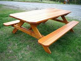round plastic picnic table round wood picnic table kit tupper woods