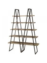 Industrial Bookcase With Ladder by Bookshelf