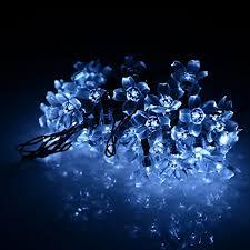annt solar powered 16 4ft 50 led blossom string lights for