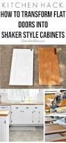kitchen hack diy shaker style cabinets cherished bliss with this kitchen hack you will be able to transform your flat doors into shaker style