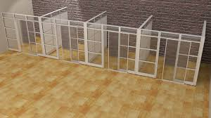 designer half glass office demountable walls room dividers cubicle