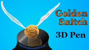 3doodler 3d printing pen 2 how to make harry potter golden snitch 3d printing pen creations