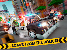 minecraft car real life robber race escape police car gangster chase android apps