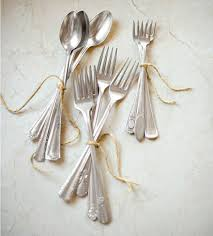 wedding silverware silverware display ideas weddings and entertaining