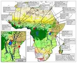 africa map study largest genetic study of mosquitoes reveals spread of insecticide