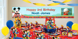 personalized party supplies custom mickey mouse birthday banners party city