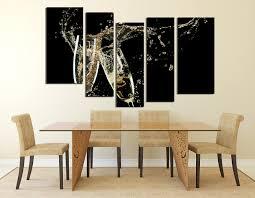 5 piece canvas art prints champagne multi panel art flute