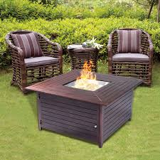 Patio Table With Firepit by 40000 Btu Aluminum Propane Gas Fire Pit Patio Heaters Climate