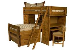 the young pioneer student loft twin bunk bed with six inch drawers